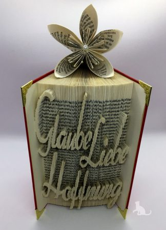 Buch Glaube Liebe Hoffnung aus Petras Bastelecke