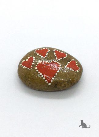 bemalter Stein Herz aus Petras Bastelecke