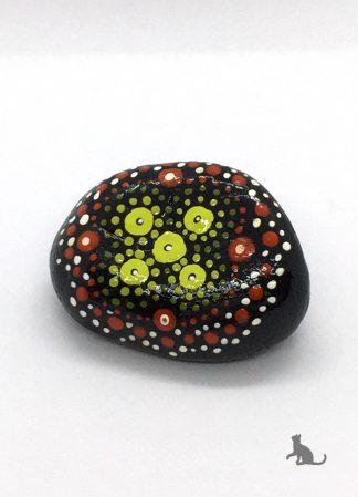 bemalter Stein schwarz aus Petras Bastelecke