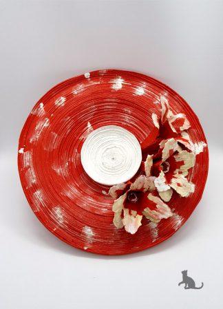 Schale rot weiß