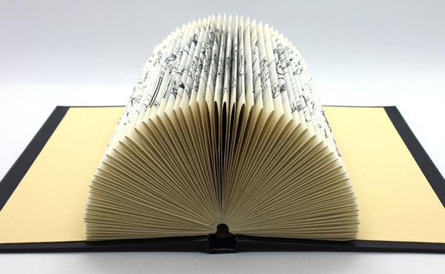 gefaltetes Buch liegend