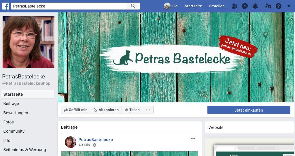Petras Bastelecke auf Facebook und Instagram