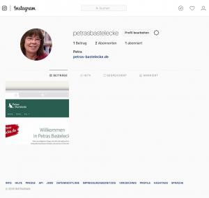 Petras Bastelecke auf Instagram