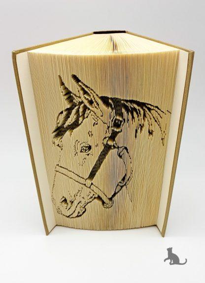 gefaltetes Buch Pferd