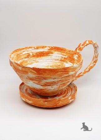 Schale Tasse orange